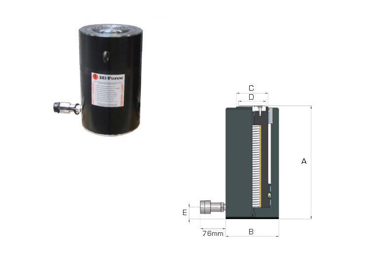 enkelwerkend lichtgewicht aluminium cilinder HAS506