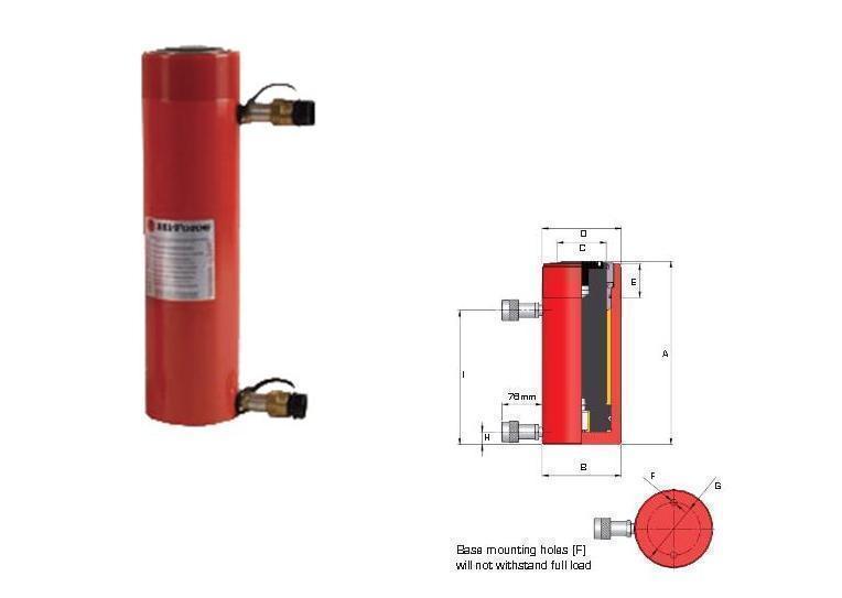 Dubbelwerkende cilinder Hi force HDA10013