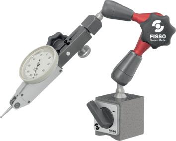 Magnetische meetstatief 220 mm voet 34x30x35 mm FISSO XS13.50