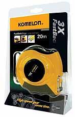 Komelon meetband FastBack Ergo 20mx10mm staal/nylon