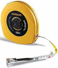 Komelon meetband UniGrip Neo 10mx13mm glasfiber, haak