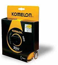 Komelon meetband UniGrip Neo 30m/100ft x13mm glasfiber haak