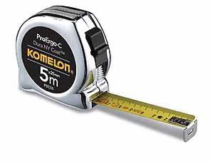 Komelon rolbandmaat ProErgo-C, 5mx25mm, staal/nylon gecoate band i
