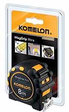 Komelon rolbandmaat MagGrip Xtra 8mx32mm magnetische haak, staal/nylon ge