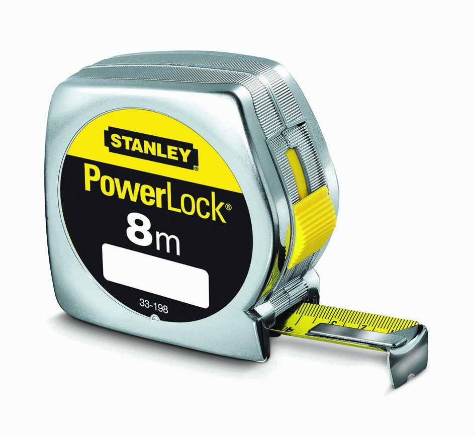 Rolbandmaat Gr Powerlock 8mtr 1-33-198 Stanley