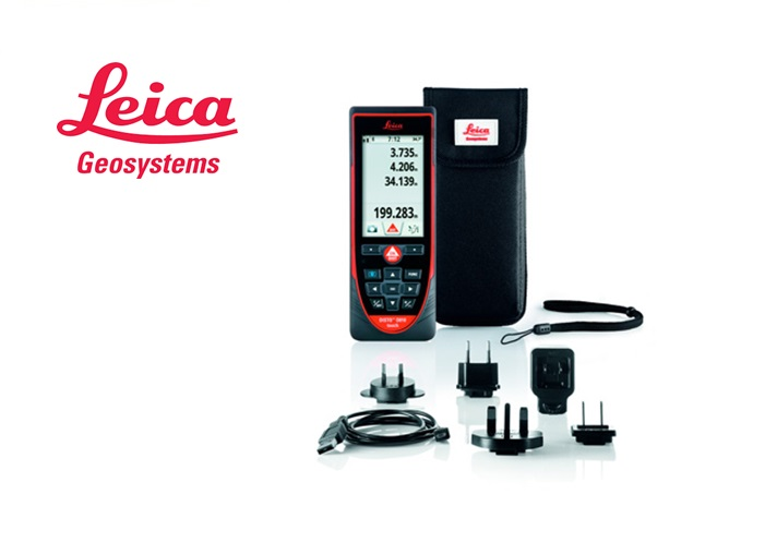 Leica Disto laserafstandsmeter D810 touch, 4x dig. zoom, kleurenscherm, Bluetooth Smart.