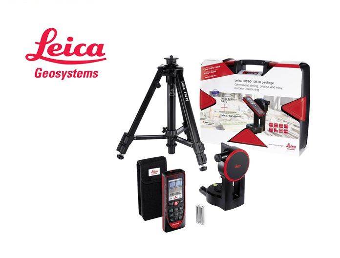 Leica Disto D510 set Disto D510, adapter FTA360, statief TRI70 in sterke koffer