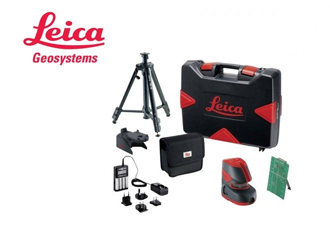 Leica LINO L2G+ uitlijnlaser, zelfnivellerend, groene laser. Set met TRI 70 en adapter. .