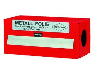 Onderlegfolie 0,025 mm, staal, 150x2500mm