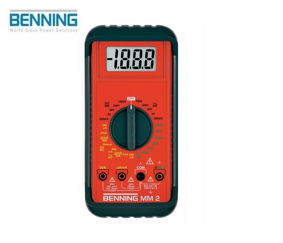 Digitale multimeter MM 2 750V Benning 044028