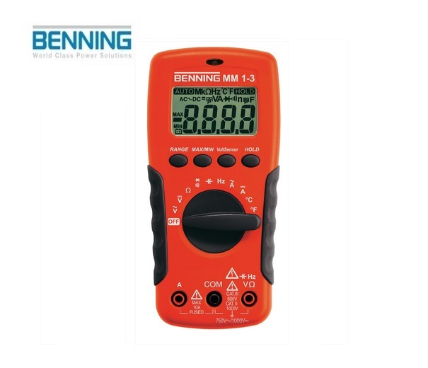 Digitale multimeter MM 1-3 750V Benning 044083