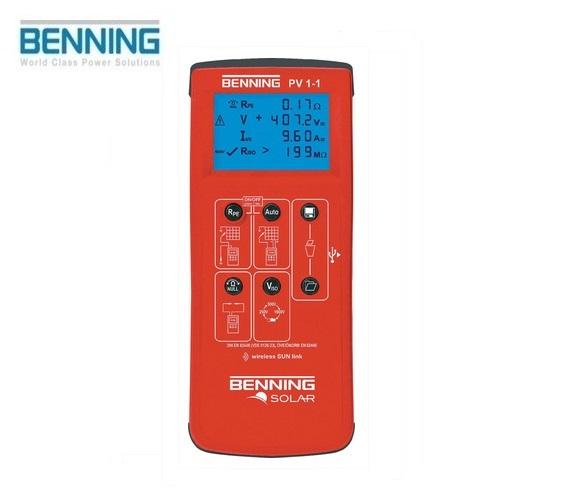 Fotovoltaïsche installatietester PV 1-1 Benning 050421