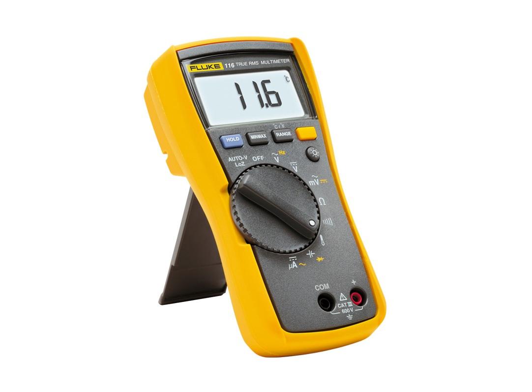 HVAC-multimeter met temperatuur- en microampèremeting Fluke 116