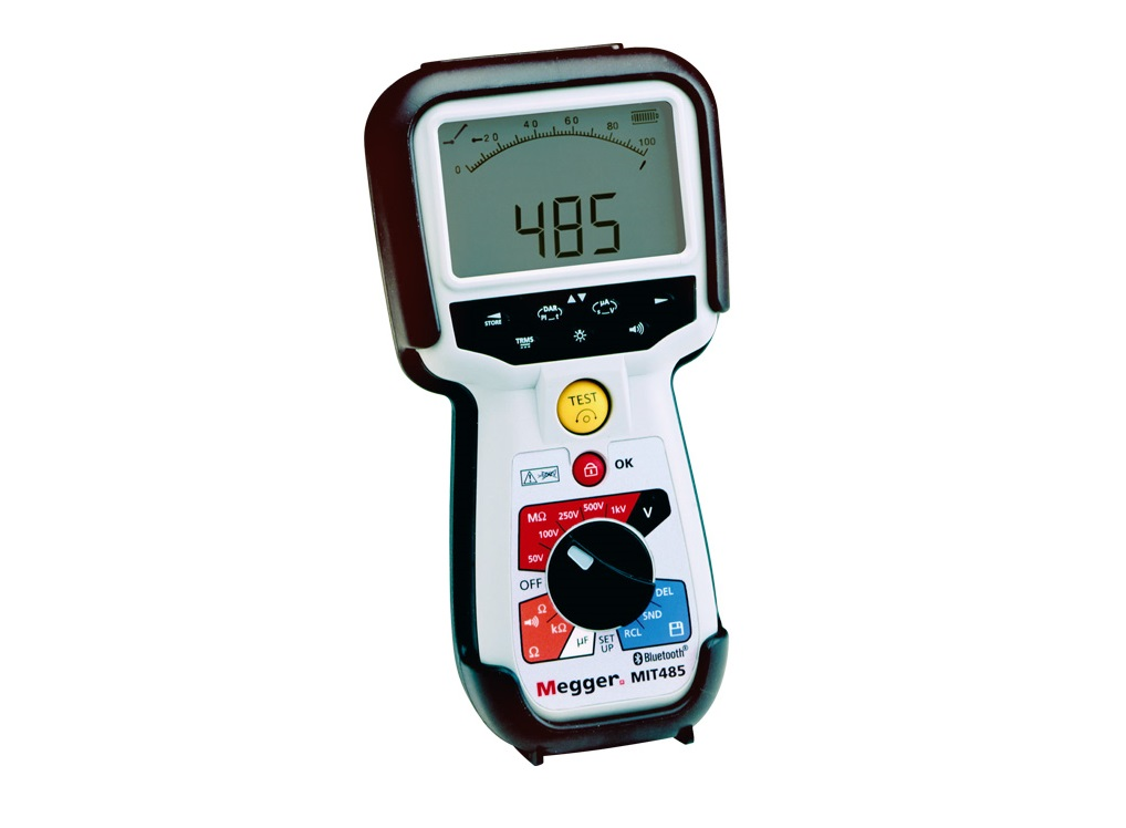 Megger MIT485 Isolatieweerstandmeter 50/100/250/500/1000V dataopslag en download