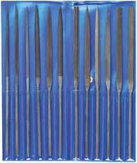 Naald vijlen set in etui 160mm (6-delig)