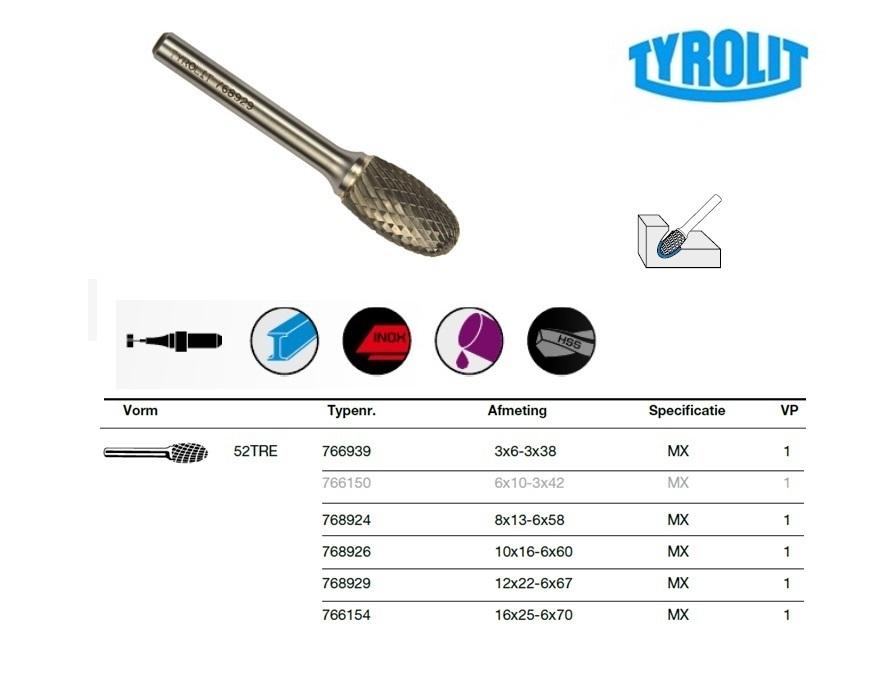 Druppel frees 52TRE 3x6-3x38 Tyrolit 766939