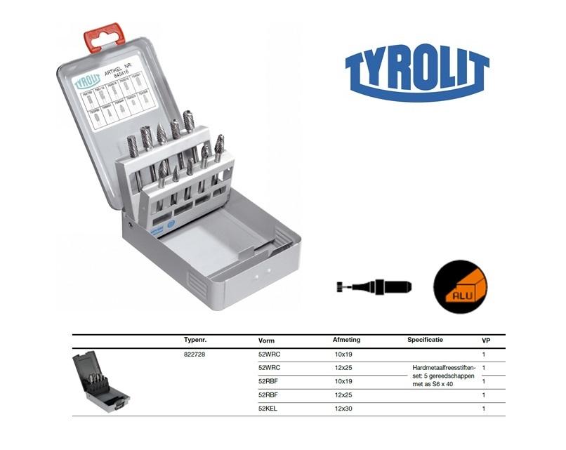 Frezen set ALU 5 stuks Tyrolit 822728