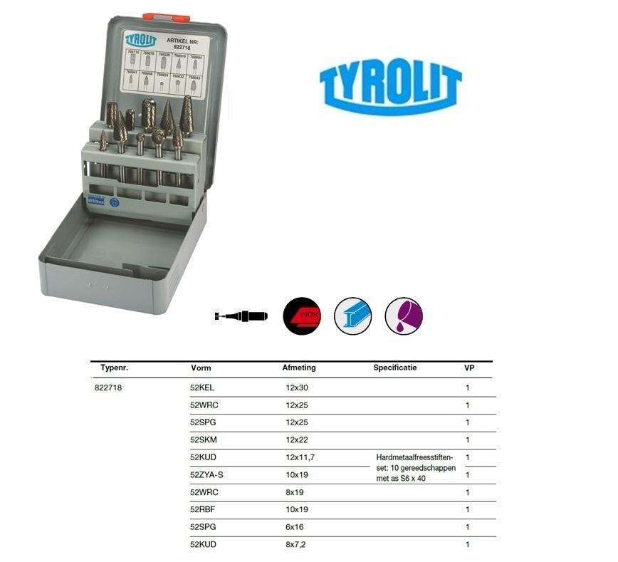 Frezen set 10 stuks Tyrolit 822718