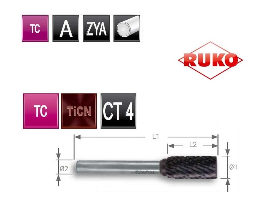 Cilinder frees 52 ZYA Ø 8,0 mm TC TiCN 4 spievertanding