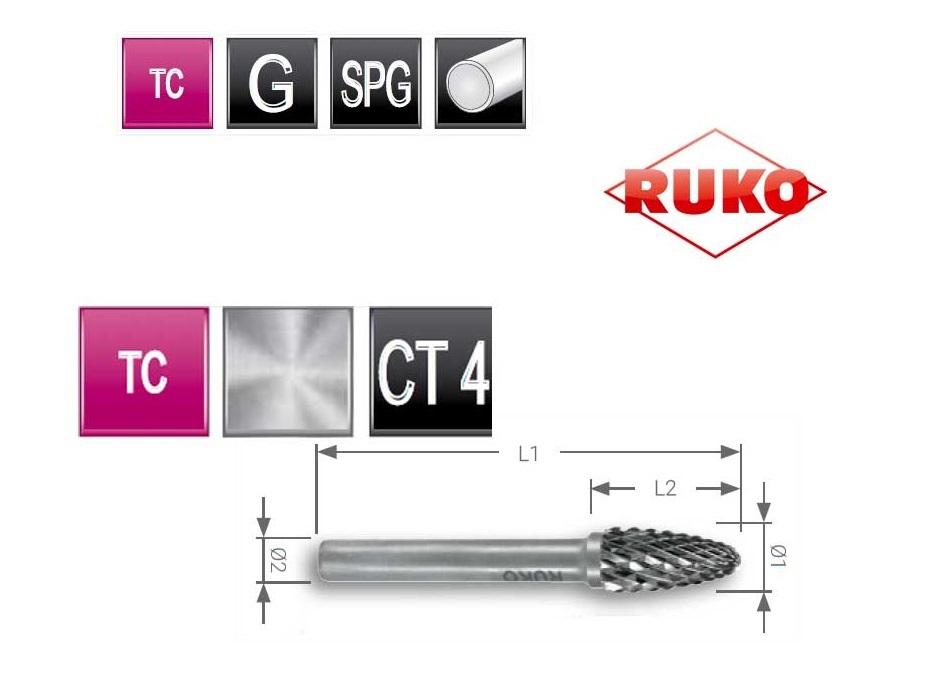 Rondboog frees RBF Ø 3,0 mm TC CT 4