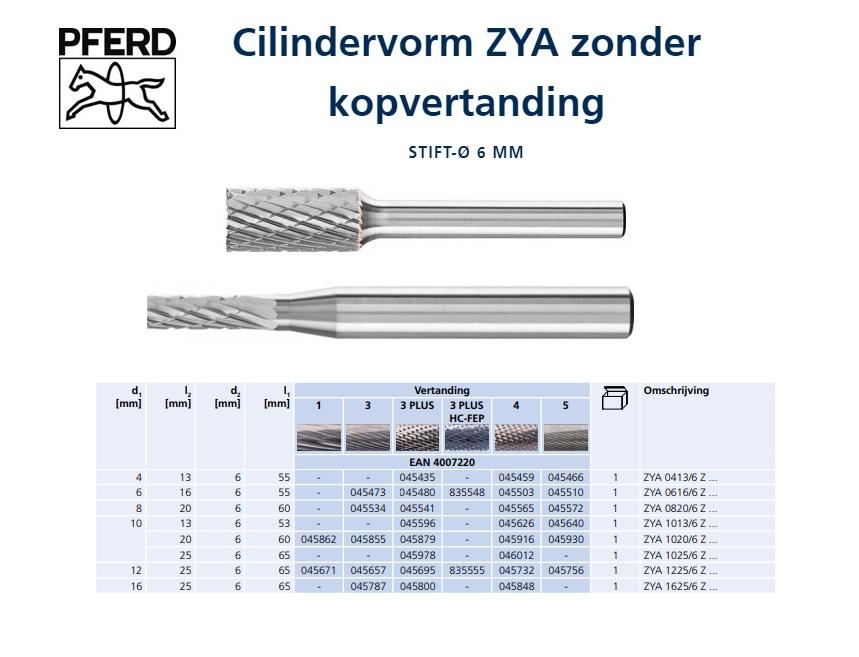 Freesstift HM A ZYA 4x13mmSchaft-D.6mm HM Vertanding 3