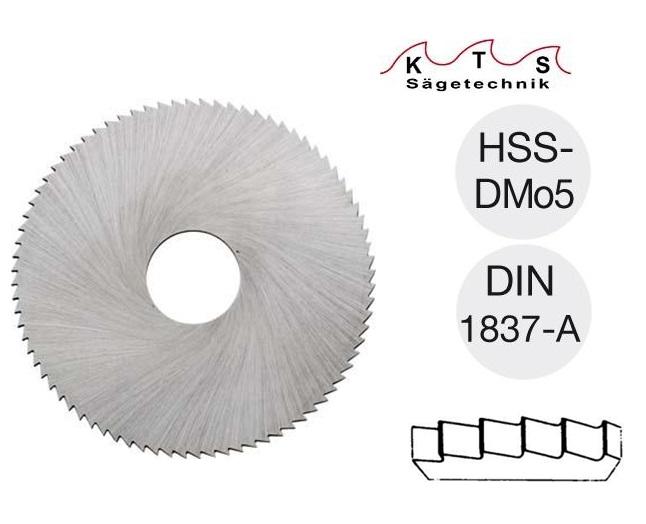 Metaalcirkelzaagblad HSS-DMo5 DIN 1837A 20X0,20X 5 80 Z KTS