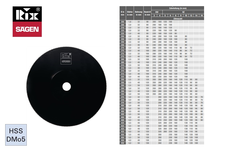 Metaalcirkelzaagblad HSS-DMo5, 200x1,8x32mm 100Z