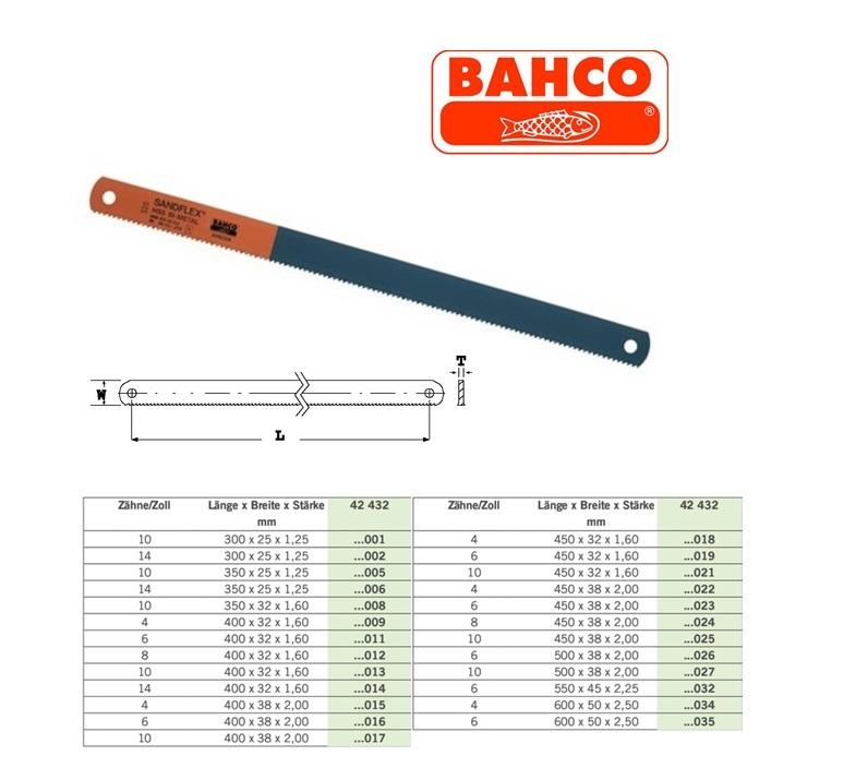 Machinezaagblad HSS-BI 300x25x1,25mm 10T Bahco 3809