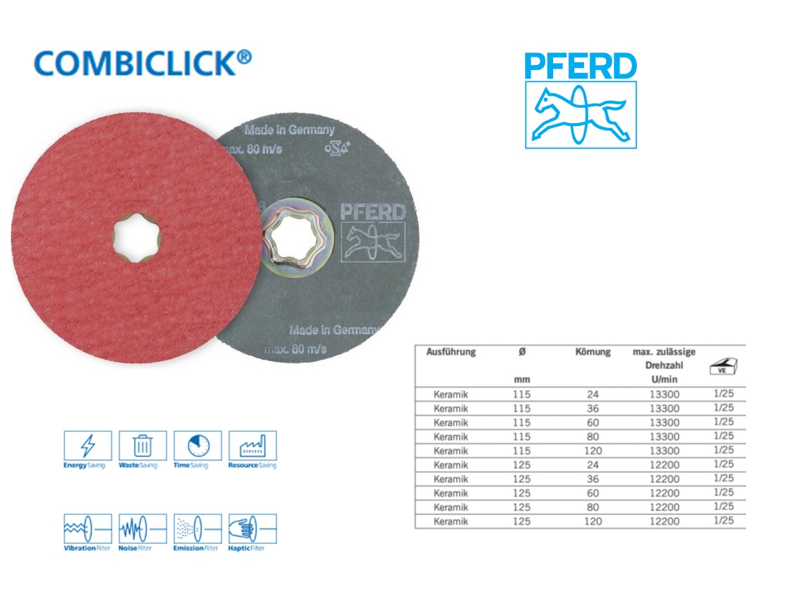 Fiberschijf CC-FS 115mm, K 24 PFERD 64193002