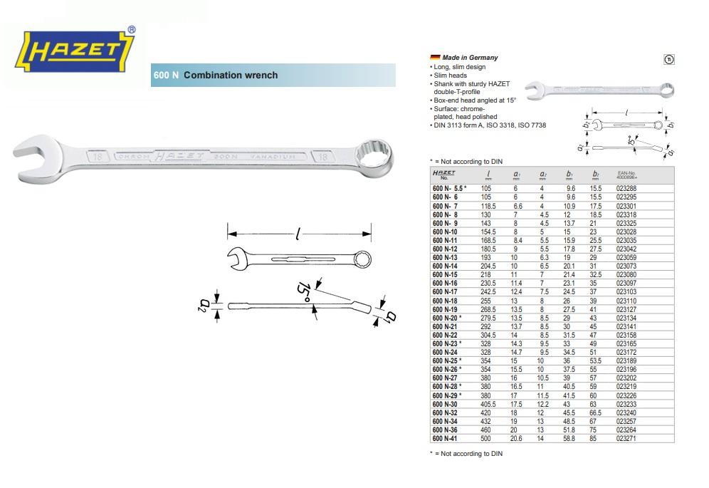Hazet Ringsteeksleutel DIN3113A 5.5mm