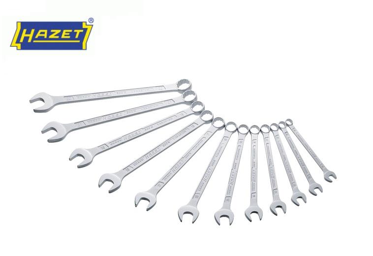 Ring-steeksleutel set 12-delig 10 - 22 mm Hazet 600N/12N