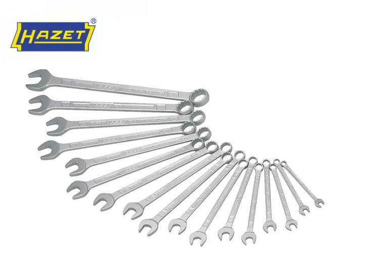 Ring-steeksleutel set 17-delig 7 - 27 mm Hazet 600N/17N