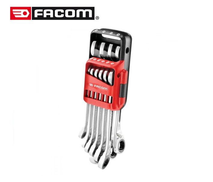 """Facom Ringsteekratelsleutel 467BR set """"Pocket""""10delig 8 - 19 mm"""