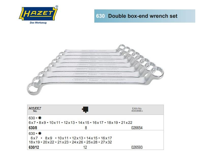 Ringsleutel set DIN 838 8pc. 6-22mm Hazet