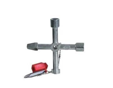 Universele sleutel voor masten voor palen met 4 rand