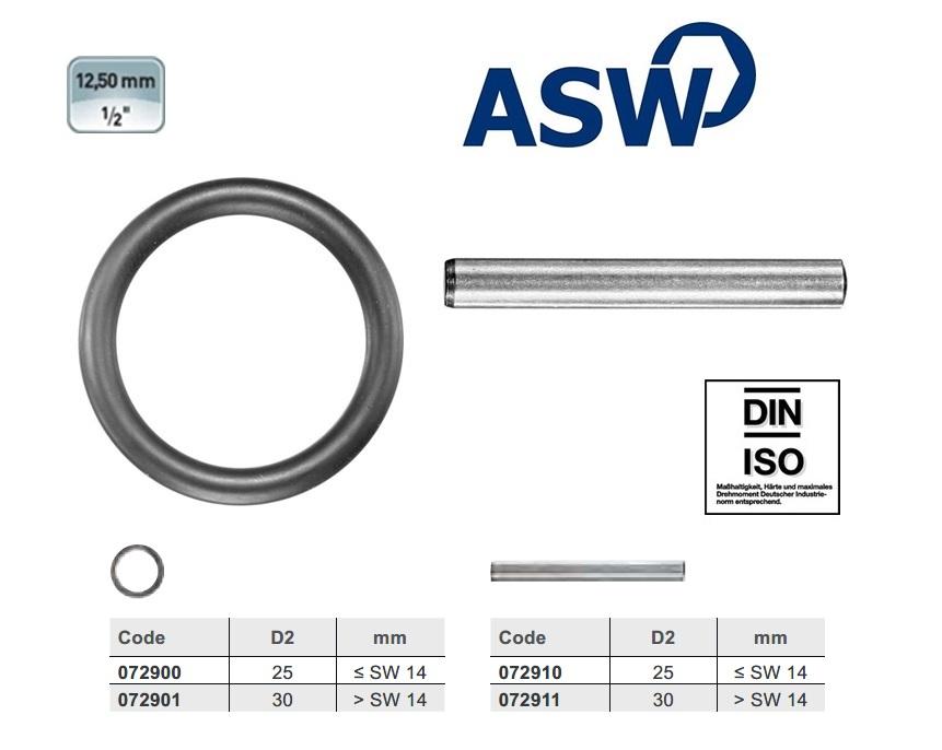 ASW Borgpen 25mm voor 1/2