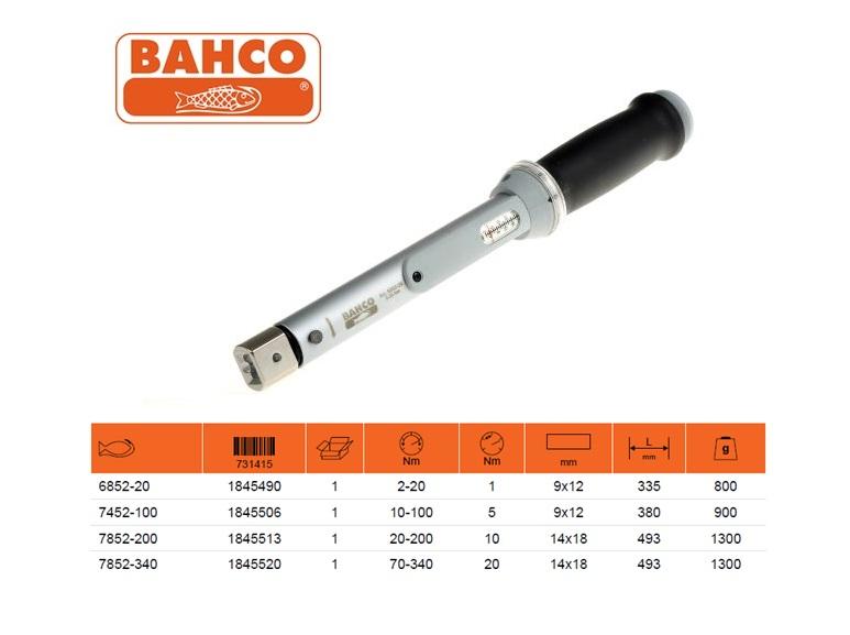 BAHCO Klikmomentsleutel met venster 2-20 Nm 9X12mm