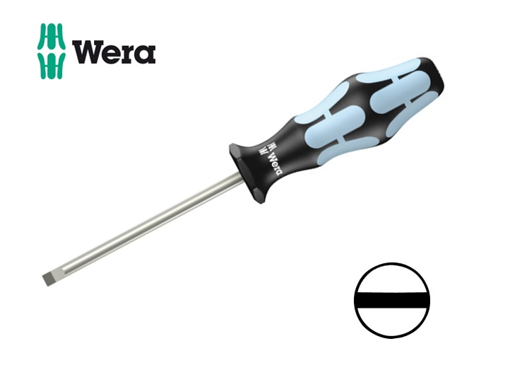 RVS Schroevendraaier 3,0x0,5x 80mm Wera 3335