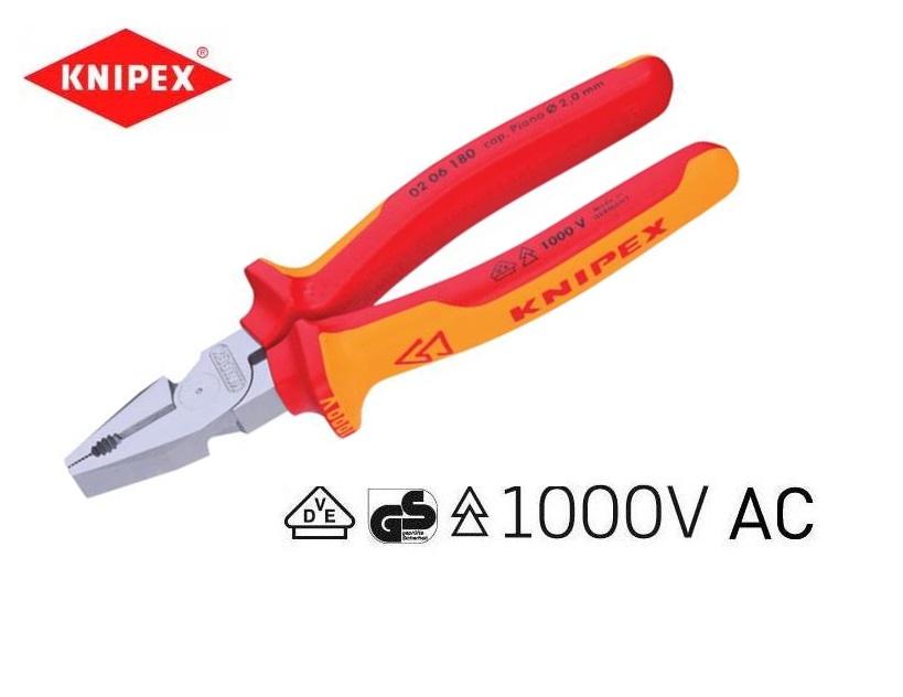 VDE Kracht combitang 180mm Knipex 02 06 180