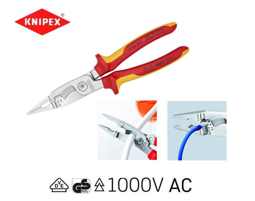 VDE Elektro-installatietang Knipex 13 86 200