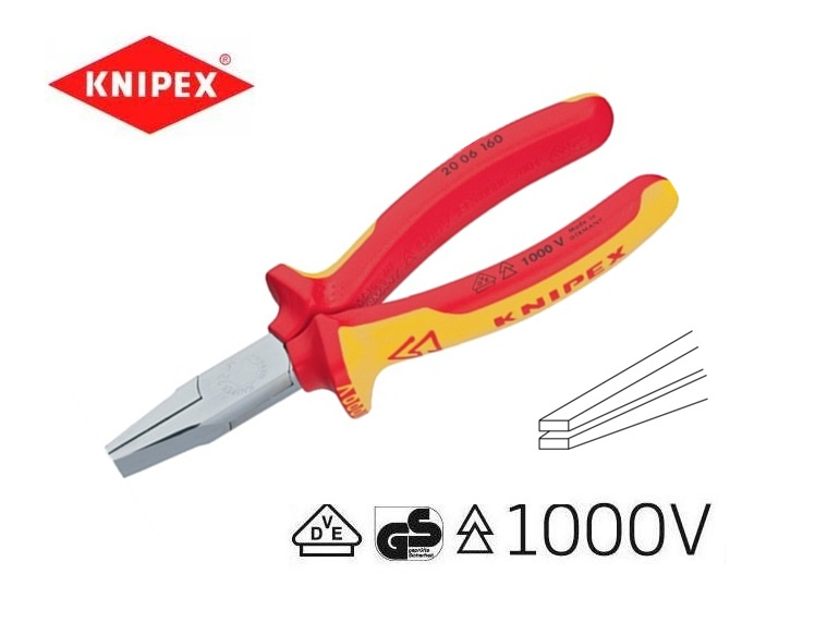 VDE-platbektang 160mm Knipex 20 06 160