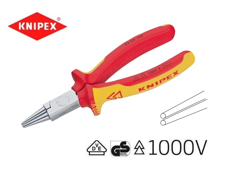 VDE Ronde-bektang 160mm Knipex 22 06 160