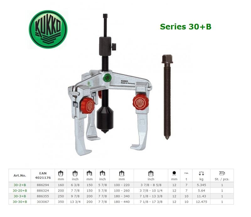 3-armige trekker met snel verstelbare trekhaken 160x150mm