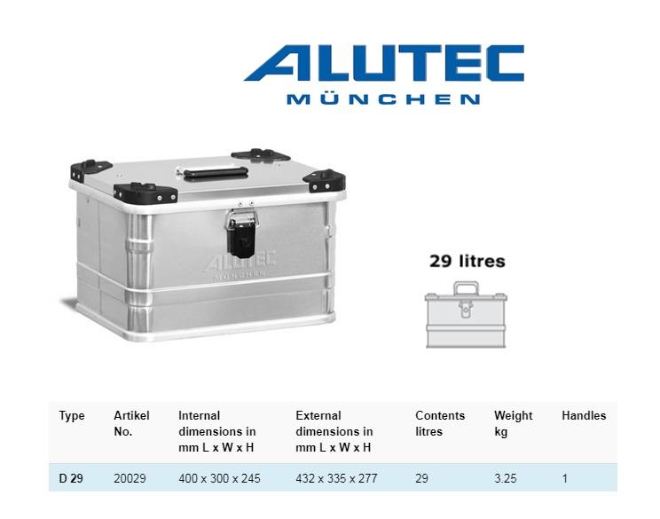 Aluminiumbox 432 x 335 x 277 ALUTEC D 29