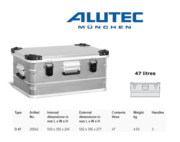 Aluminiumbox 582 x 385 x 277 ALUTEC D 47