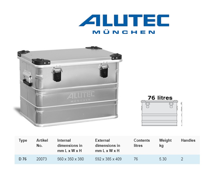 Aluminiumbox 592 x 385 x 409 ALUTEC D 76