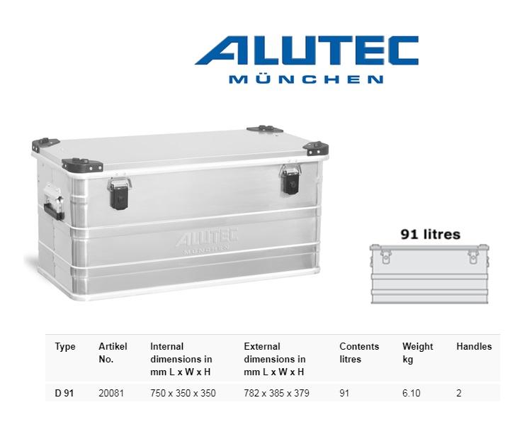 Aluminiumbox 782 x 385 x 379 ALUTEC D 91
