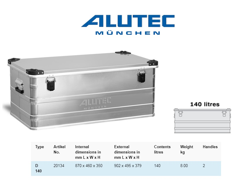 Aluminiumbox 902 x 495 x 379 ALUTEC D 140
