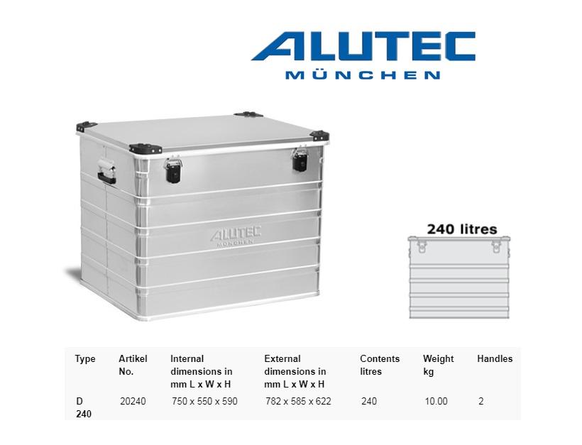 Aluminiumbox 782 x 585 x 622 ALUTEC D 240