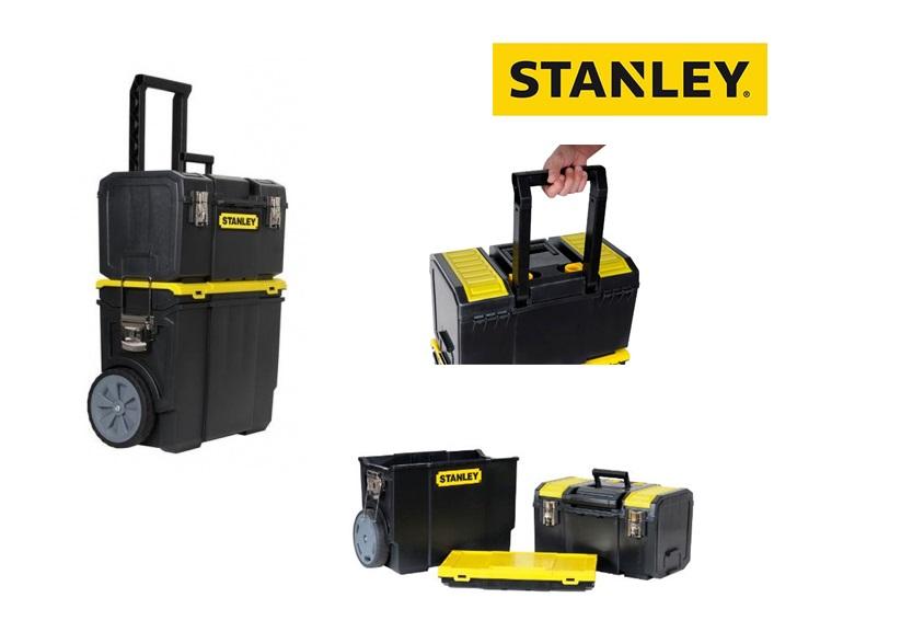 Stanley mobiele gereedschapswagen kunststof zwart 3 in 1 475x284x630mm